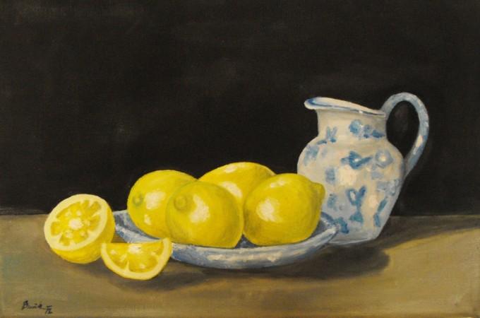 Tihožitje z limonami - Moj Mozaik