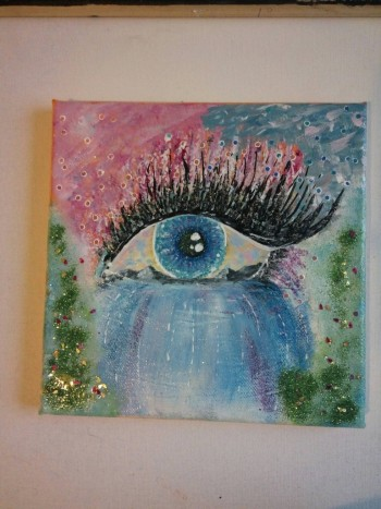 Energy painting-The Window Of The Soul -